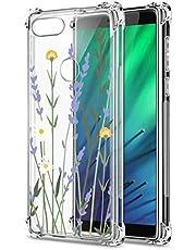Oihxse Cristal Compatible con Huawei Nova 5I/P20 Lite 2019 Funda Transparente TPU Silicona Estuche Airbag Esquinas Anti-Choque Anti Rasguños Diseño Rosa Flower Caso (Flores A8)