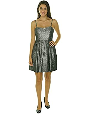 Guess LA Women's Allison Metallic Sweetheart Dress