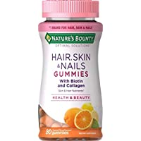 Hair Skin and Nails Vitamins with Biotin & Collagen by Nature's Bounty Optimal Solutions...