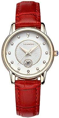 Quartz Analog Fashion Ladies Watch Red Leather Strap Waterproof Women's Watch Designer Casual Simple Women Wrist Watches