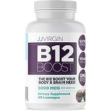 JJ Virgin - B12 Boost, High Dose, 60 Black Cherry Flavored Lozenges