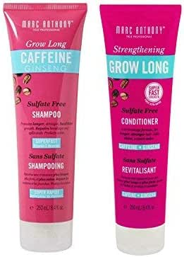 Marc Anthony Strengthening Grow Long Sulfate Free Shampoo and Conditioner 8.4 fl oz Pack