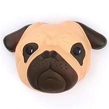 Brown pug dog animal face squishy kawaii scented