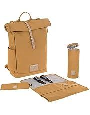 LÄSSIG Luierrugzak met aankleedkussen, kinderwagenbevestiging, flessenwarmer waterafstotend duurzaam geproduceerd/Rolltop Backpack