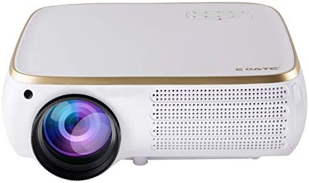 """Egate P531 Full HD 1080p (4K Support)   4500 L (690 ANSI ) with 240 """" (6.3 m) Large Display LED Projector   VGA , AV , 2xHDMI , 2xUSB, Audio Out, Connectivity   (E13J91) (White)"""