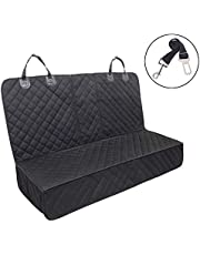 Dog Car Seat Cover,Waterproof Pet Car Rear Seat Protector Compatible for Central Armrest,Suitable for Most Cars, SUV,Trucks