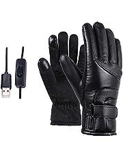 A/A MOTINGDI Winter verwarming handschoenen USB oplaadbare waterdichte en koudebestendige touch screen warme handschoenen