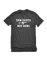 Indica Plateau Ban Idiots Not Guns Mens T-Shirt