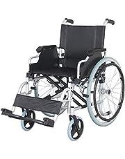 """Senick Lightweight Folding Aluminum Wheelchair, 18"""" Seat Width"""