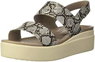 Crocs Brooklyn Look Wedge Blue Sandal for Women 206453-46K <br />