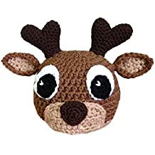 Elee Baby Handmade Crochet Knit Animal Hat Beanie Warm Earflap Photograph Props