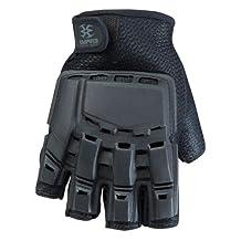 Empire BT THT Hard Back Fingerless Gloves - Black - Small / Medium