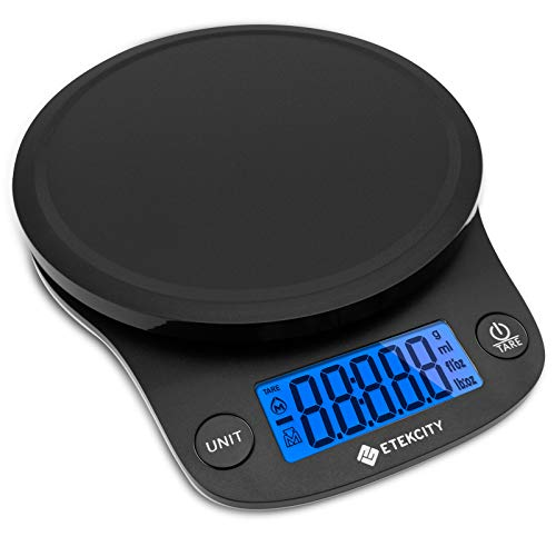 Etekcity 0.1g Food Kitchen Scale, Digital Ounces and Grams for Cooking, Baking, Meal Prep, Dieting, and Weight Loss, 11 Pounds, Black
