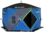 CLAM X-600 Portable 11.5 Ft 7 Person Pop Up Ice Fishing Thermal Hub Shelter Tent