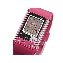 Casio #LDF52-4A Women's Poptone Pink Pastel LCD Digital Watch