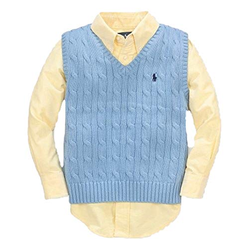 RALPH LAUREN Polo Boys V-Neck Cable Knit - Lauren Ralph Sweater Vest Boys