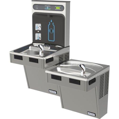 - Bi-Level HydroBoost Water Refilling Station W/Filter, Light Gray, HTHB-HAC8BLPV-WF
