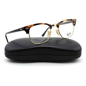 Ray-Ban RX5154 Unisex Clubmaster Eyeglasses (Brown Havana Frame 5494, 51)