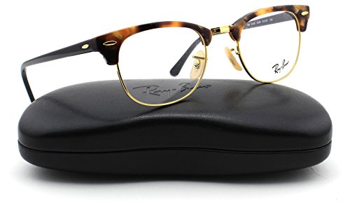 Ray-Ban RX5154 Unisex Clubmaster Eyeglasses (Brown Havana Frame 5494, - Glasses Clear Ray Ban