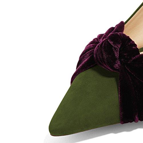 Pumput Vihreitä Luistaa 4 Bowknot Mukava Korot Teräväkärkiset Kengät Kissanpentu Fsj Alhaiset 15 Naiset Koko Juhlakengät Meitä XxqwRZ