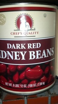 Chef's Quality: Dark Red Kidney Beans 6/108 Oz Case by Chef's Quality