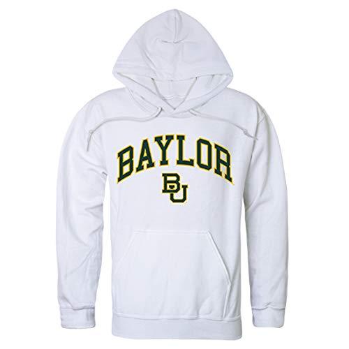 BU Baylor Bears NCAA Men's Campus Hoodie Fleece Sweatshirt - White, Medium
