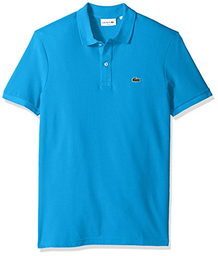 Lacoste Men's Classic Pique Slim Fit Short Sleeve Polo Shirt, Ibiza, ()