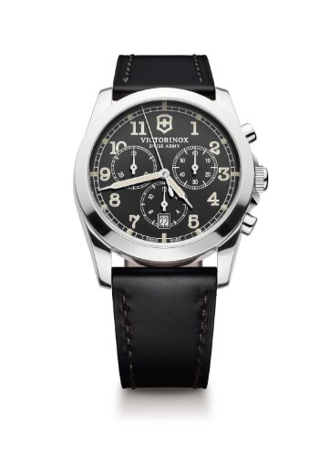Victorinox Swiss Army Men's 241588 Black Leather Watch