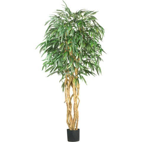Nearly Natural 6 ft. Weeping Ficus Silk Tree by Nearly Natural