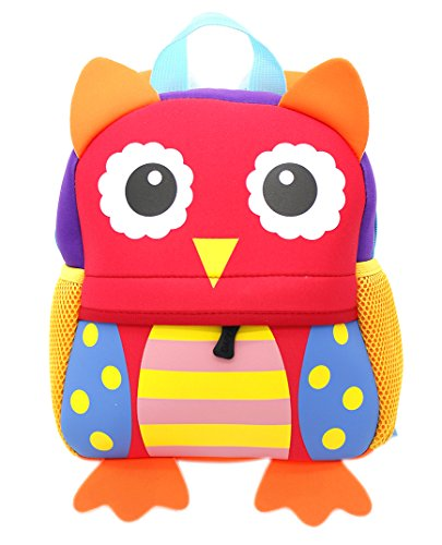 Lulutus Little Kids Cute Animals Backpack Preschool Bags Waterproof for Toddler Boys Girls,Owl