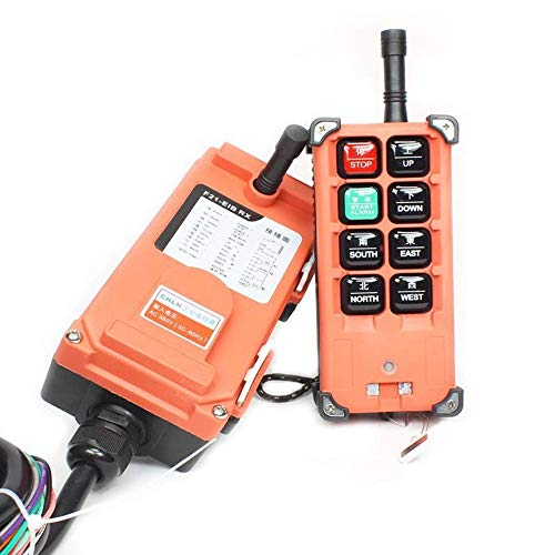 Industrial Hoist Crane Industrial Wireless Remote Control Transmitter & Receiver (AC 110V) ()