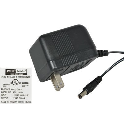 12VAC 500mA AC-to-AC Wall Adapter Power Supply