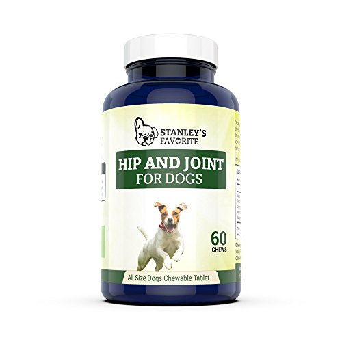 Glucosamine Hip and Joint Supplements for Dogs - chondroitin chews arthritis pain relief pet care vitamins health by Stanley's