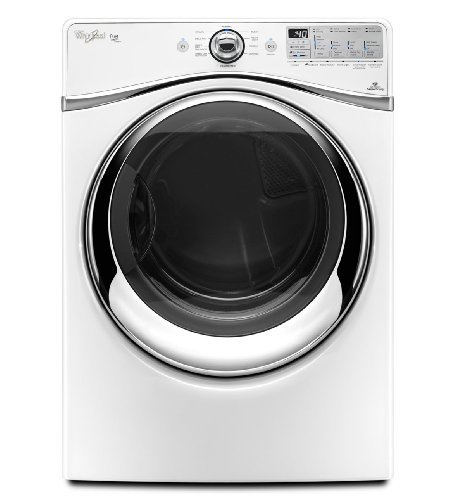 Whirlpool WGD94HEAW Duet 7.4 Cu. Ft. White Stackable With Steam Cycle Gas Front Load Dryer