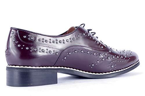 Burdeos Piel Lisa Color schoen Caland Cordones Mujer Eu Zapatos Rojo Rojo Talla Para De 43 xwIXXCzHq