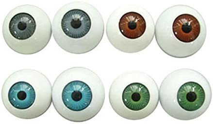 8pc Realistic Hollow Back Fake Eyes Eyeballs DIY Halloween Prop Horror Mask Doll