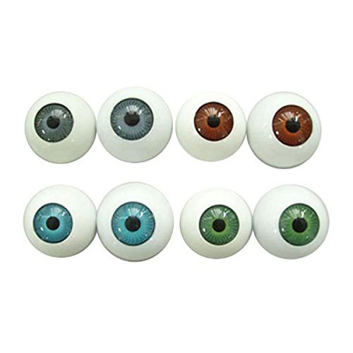 ROSENICE Halloween Eyes Scary Eyes 8 Hollow Plastic Eyeball Halloween Horror -