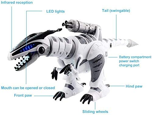 effoo Fernbedienungsroboter für Kinder Kinder, Lernroboter Spielzeug, Smart Robotics mit LED-Augen, Tanz und Sounds, 25-Jährige