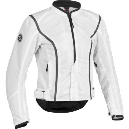 Firstgear Contour Mesh Women's Textile Motorcycle Jacket (White, Medium)