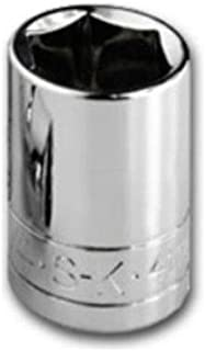 product image for SK Professional Tools 40712 1/4 in. Drive 6-Point Metric Standard Chrome Socket – 13mm old Forged Steel Socket with SuperKrome Finish, Made in USA