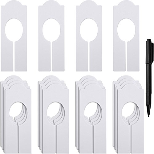 WILLBOND 20 Pack Blank Clothing Rack Size Dividers Rectangular Closet Dividers for Home Closet Cloth Store (Best Baby Clothes Stores)