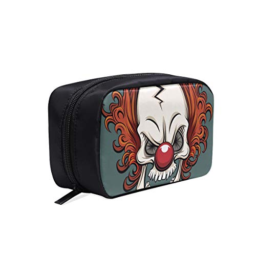 Evil Scary Clown Monster Portable Travel Makeup Cosmetic