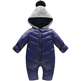 the latest a6fc7 080d6 Baby Strampler Jumpsuit, Baby Jumpsuit Overall, Kuscheliger Baby-Anzug Baby  Jumpsuit Outfit Kind Overall Herbst-Winter Verdickte Warm Unisex Baby ...