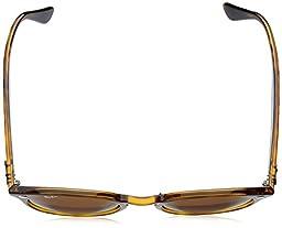 Ray-Ban Women\'s Highstreet Round Sunglasses, Shiny Havana/Brown, One Size