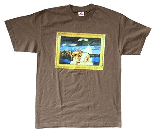 Joni Mitchell Tongue Both Sides Now Tour Brown T Shirt (Joni Mitchell T-shirts)
