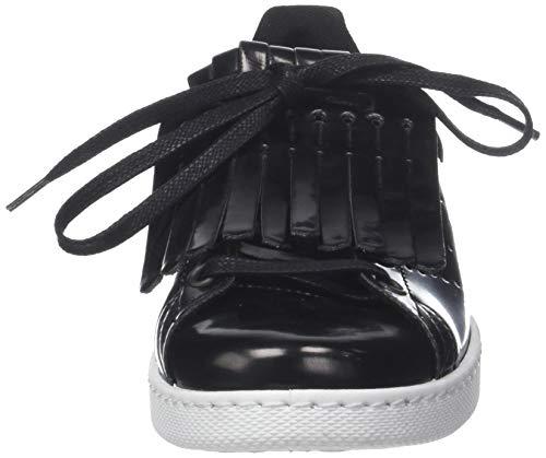 Nero Sneaker Deportivo Victoria 10 Donna Espejo negro Flecos wCBxRXq