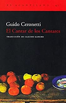 El Cantar de los Cantares par Ceronetti