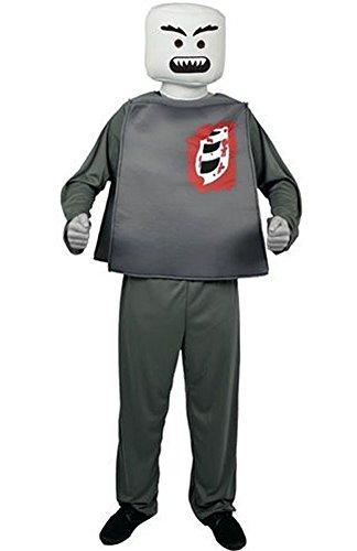 Adult Zombie Blockhead Mens Halloween Costume Gray]()
