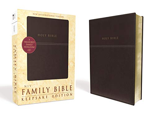 (NIV, Family Bible (Keepsake Edition), Leathersoft, Burgundy, Red Letter Edition)