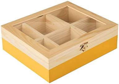 IBILI - Caja DE TE 6 Compartimentos Amarillo: Amazon.es: Hogar